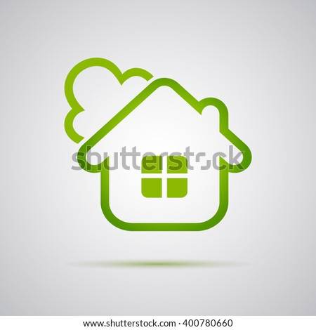 Eco House Vector illustration - stock vector