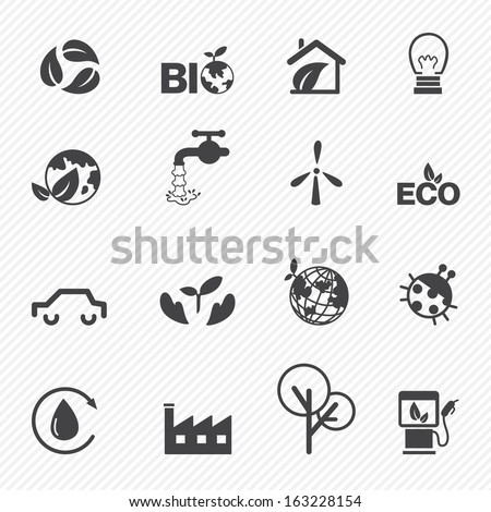 Eco icons set vector - stock vector