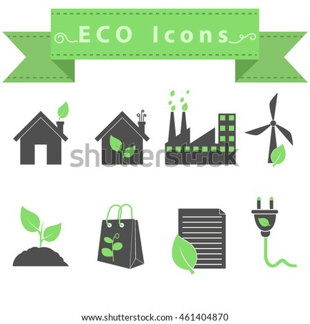 Eco icons - Vector
