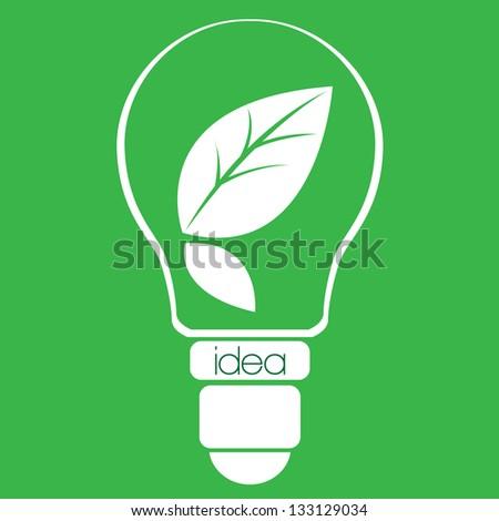 Eco idea light bulb - stock vector