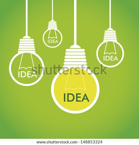 eco idea over green background vector illustration  - stock vector