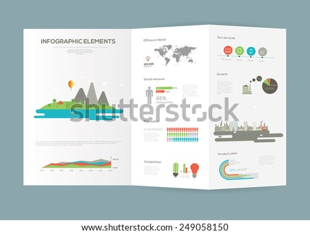 Eco INfographic Brochure. Flat vector illustration.  - stock vector