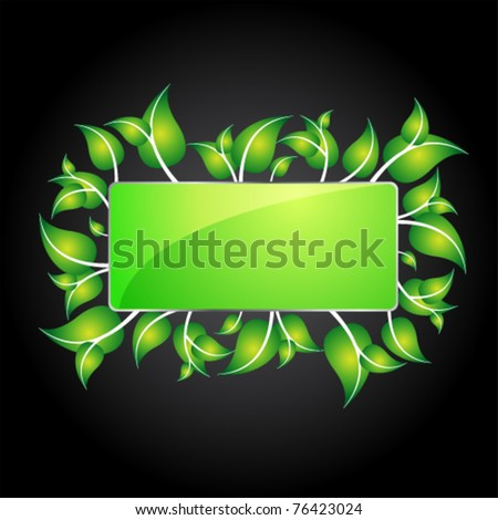 eco information icon for web - stock vector