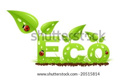Eco label - stock vector