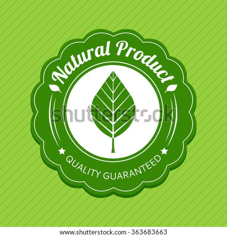 Eco label. Green. Natural product tag. Vector illustration.