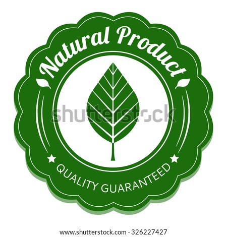 Eco label. Natural product tag. Vector illustration.