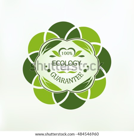 eco-label natural products, abstract design
