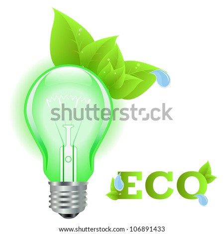 Eco light background made with ecology icons
