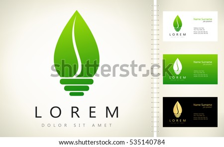 Eco Light Bulb Logo