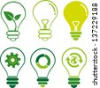 Eco light bulbs vector set - stock photo