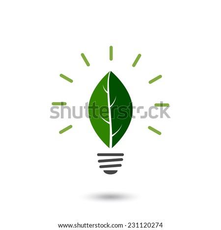 eco lightbulb - stock vector