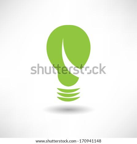Eco Lightbulb icon - stock vector