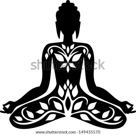 Meditating Buddha Silhouette