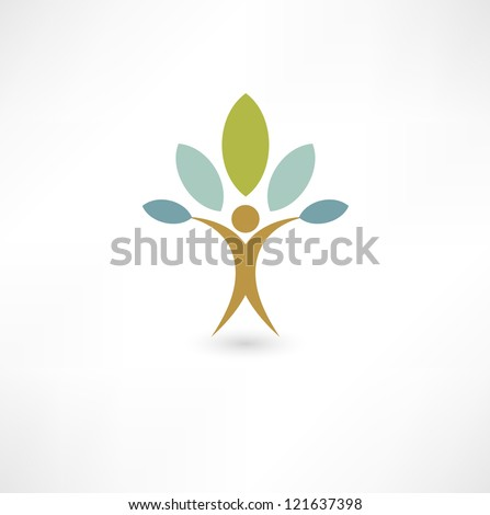 Eco people - stock vector