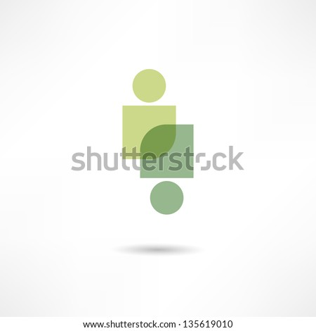 eco people icon - stock vector