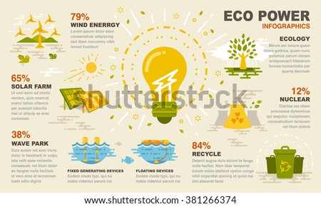 Eco power infographics - stock vector