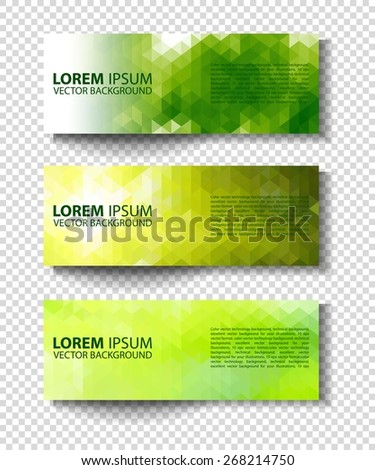 eco set of headers with four different style. set of green environmental vector banners - stock vector