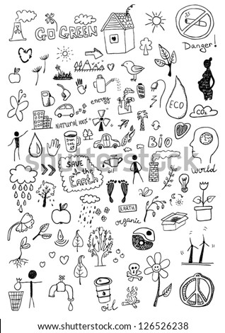 Eco signs - stock vector