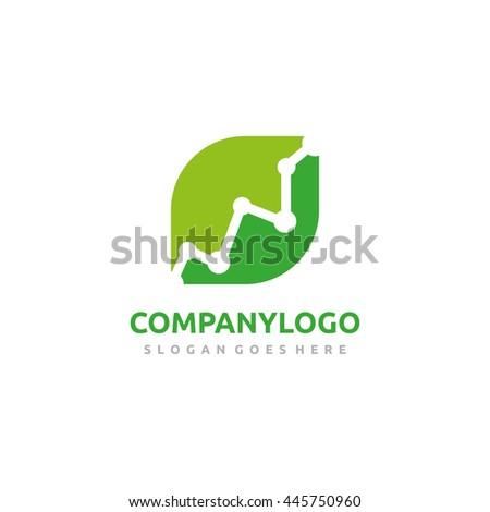 Eco Stats Logo - stock vector