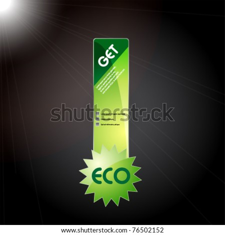 eco sticker icon for web - stock vector