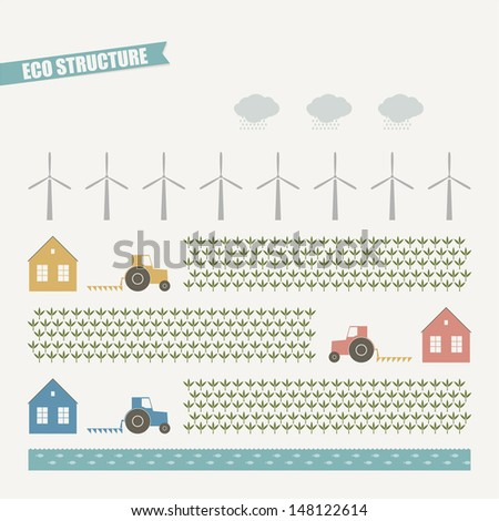Eco structure - stock vector