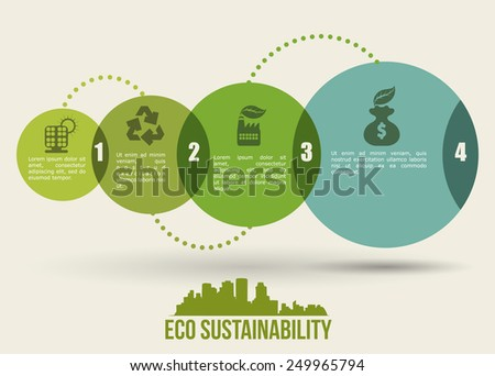 eco sustainibility design, vector illustration eps10 graphic  - stock vector