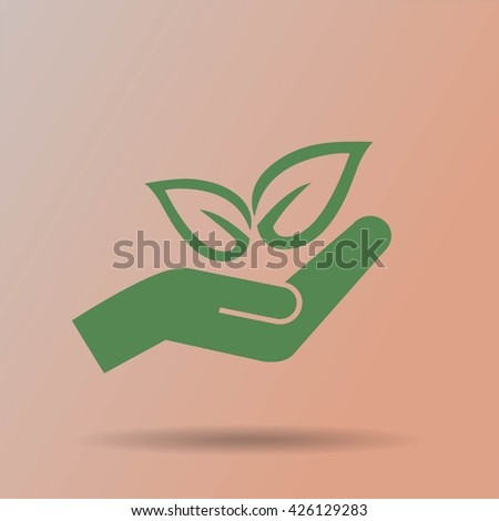 Eco Symbol Stock Vector 426129283 Shutterstock