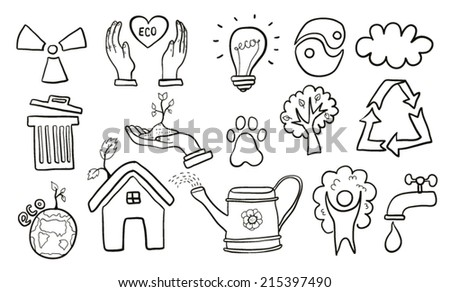 Eco symbols - stock vector