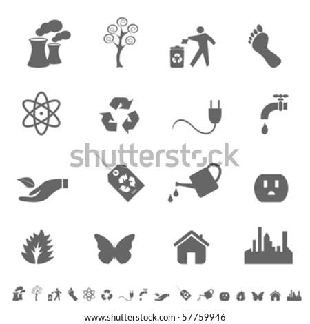 Eco symbols and icon set - stock vector