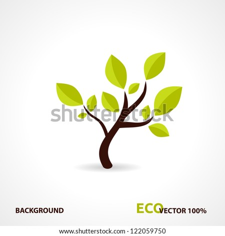 Eco Tech. Ecology Design Background. Vector Illustration. - stock vector