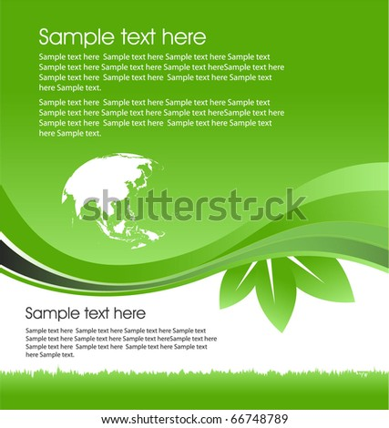 eco template - stock vector