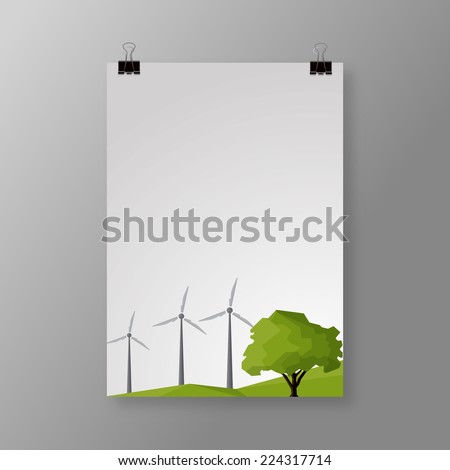 Eco theme flyer template or corporate banner design, can be use for publishing, print and presentation. EPS 10.  - stock vector