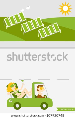 Eco Town (5) - stock vector