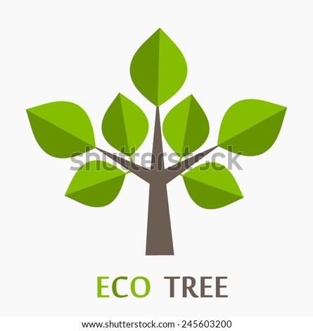 Eco tree icon. Vector illustration