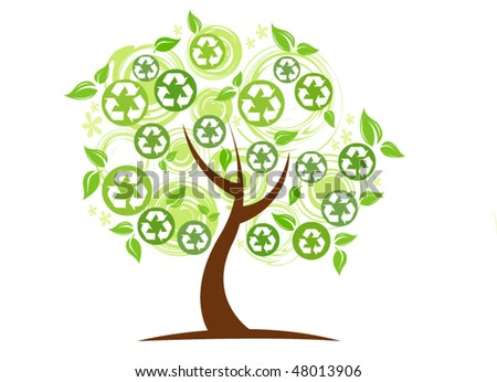 eco tree.vector illustration - stock vector