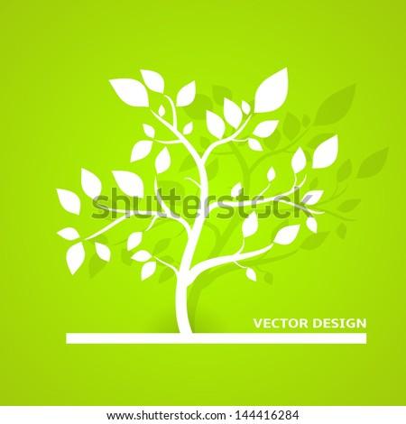 Eco Vector Design. Green Color. - stock vector