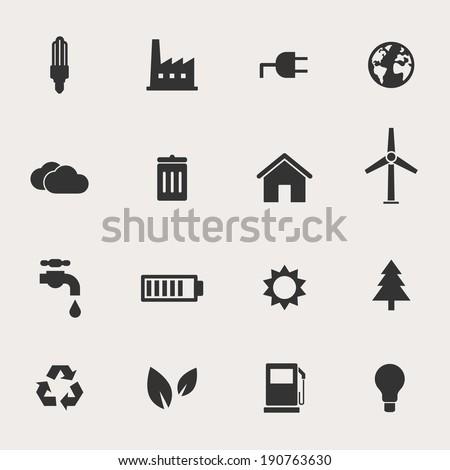 Eco Vector Icon Set - stock vector