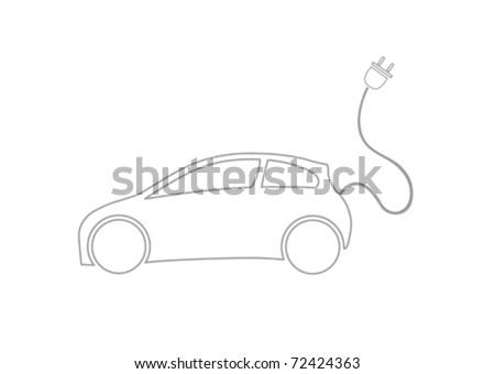Ecocar Symbol - stock vector