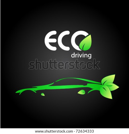 ecologic driving sign - stock vector