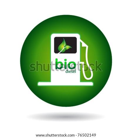 ecologic gas pump sign - stock vector