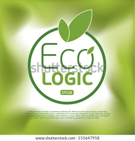 Ecologic icon background.Think Green. Concept.