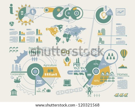 ecologic info graphics,vector elements, - stock vector