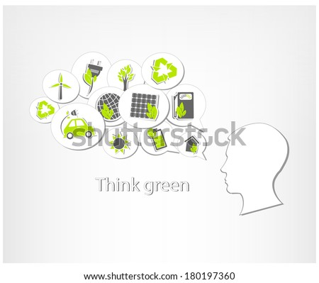 Ecological abstract vector background - stock vector