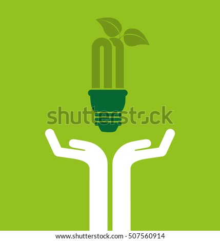 ecological alternative energy green vector illustration design