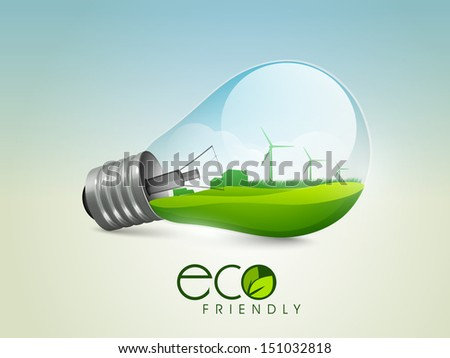 Ecological energy concept.  - stock vector