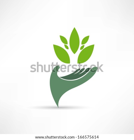 ecological environment icon - stock vector