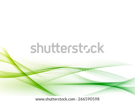 Ecological green abstract modern swoosh wave certificate. Vector illustration - stock vector