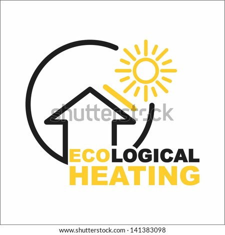Ecological heating - stock vector