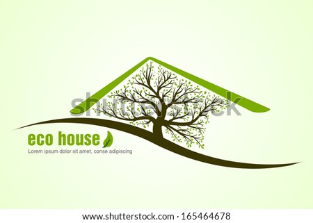 ecological house. concept of ecology - stock vector