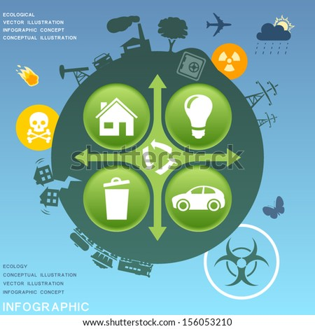Ecological infographic design elements - stock vector